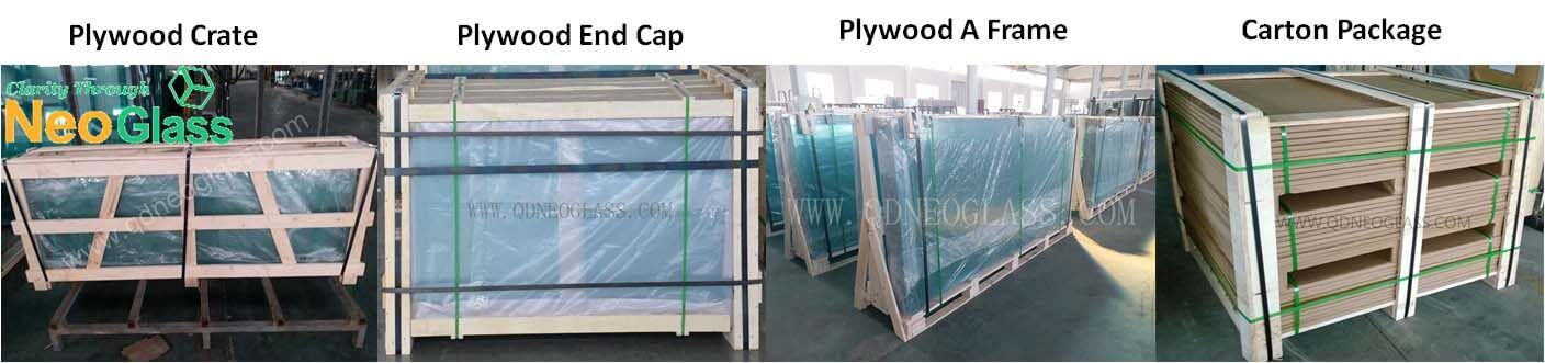 Strong Package of Laminated Glass Cut To Size