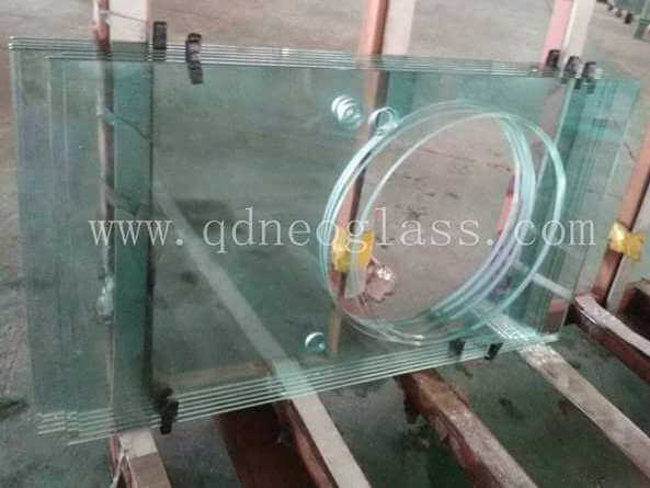 Custom-Made Tempered Countertop Glass With Hole for Bowl and Pot for Bathroom, Washing Room and Kitchen