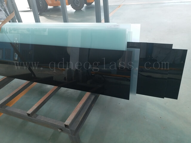 Cut to Size Black Laminated Glass
