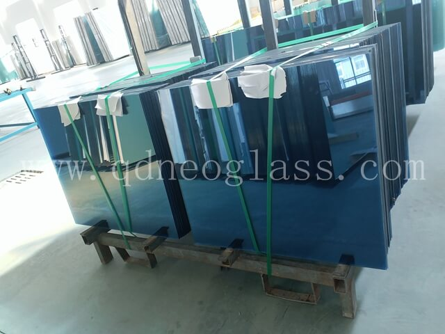 Blue Heat Strengthened Laminated Glass,Heat Strengthened Blue Laminated Glass, Heat Strengthened Blue Balustrade Laminated Glass, Heat Strengthened Blue Balcony Laminated Glass, Blue Heat Strengthened Laminated Glass Cut To Size