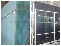 Tint Laminated Safety Glass-Grey & Milky White, Laminated Balony Glass, Laminated Balustrade Glass, Cut To Size Laminated Glass