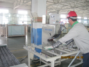 ARRISING EDGES BY SAND BLAST MACHINE