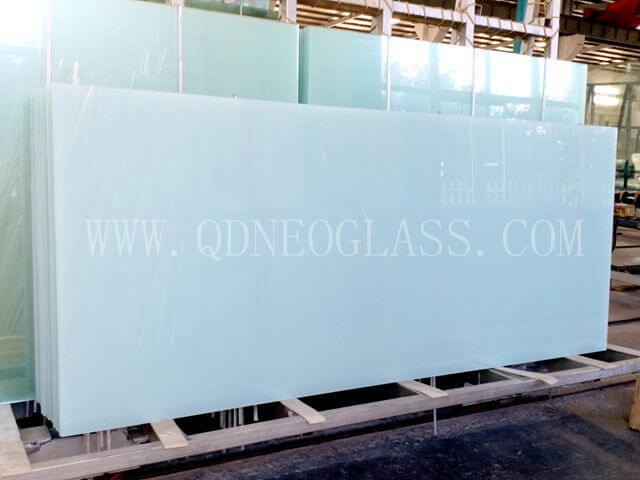 Milky White Laminated Glass,Opal White Laminated Safety Glass,White Translucent Laminated Glass,