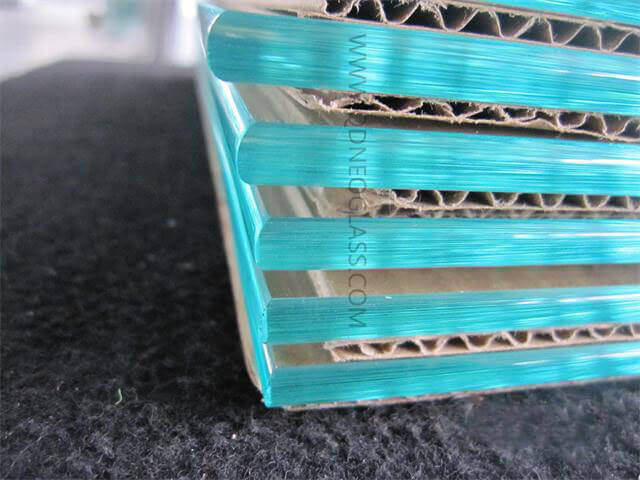 Pencil Edges Glass Shelf